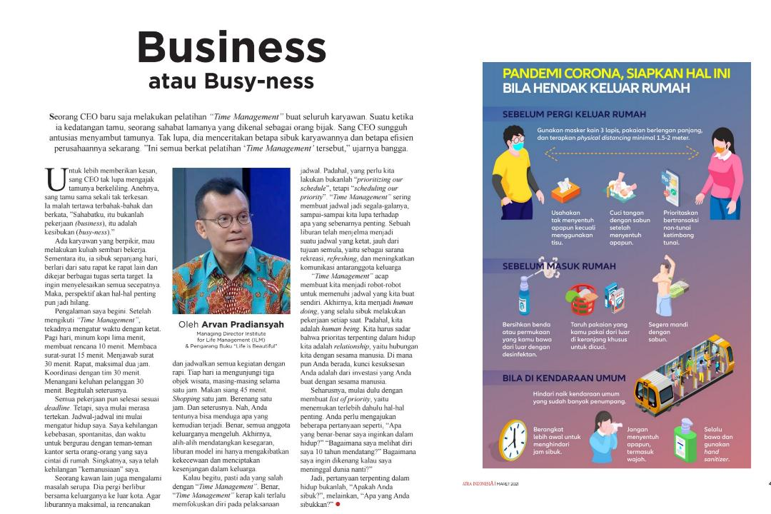 Business atau Busy-ness?