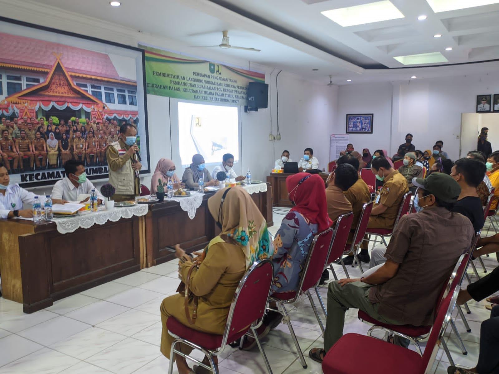 Kecamatan Rumbai Barat Sosialisasikan Pembangunan Tol Pekanbaru-Rengat