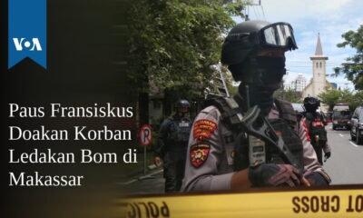 Paus Fransiskus Doakan Korban Ledakan Bom di Makassar