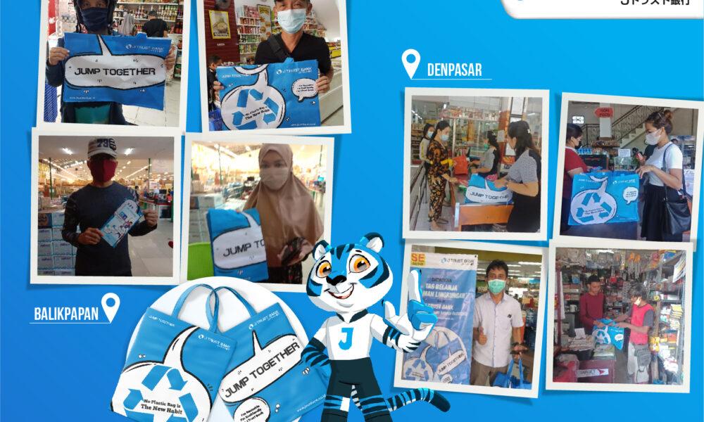 Promosi Tas Belanja Ramah Lingkungan J Trust Bank dengan Retailer Lokal