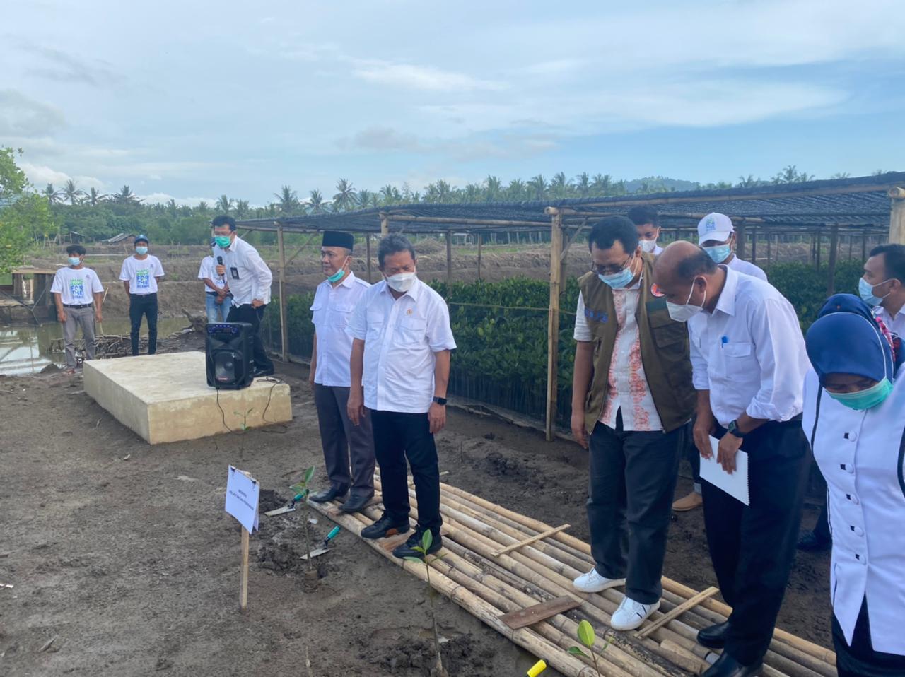 Pulihkan Vegetasi Mangrove di NTB, Trenggono Menargetkan Penanaman 56 Hektare Sebelum Lebaran