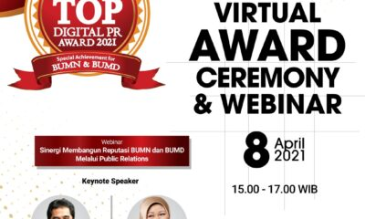 SuaraPemerintah.id dan TRAS N CO Gelar Penghargaan TOP Digital Public Relations Award Khusus BUMN dan BUMD