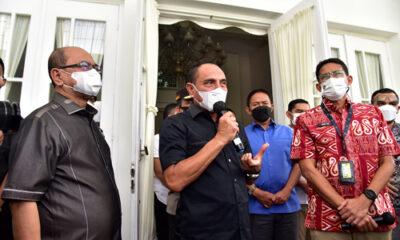 Temui Gubernur Sumut, Sandiaga Sebut Tiga Hal Bangkitkan Pariwisata Danau Toba