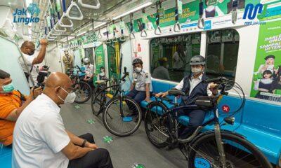 Uji Coba Fasilitas Akses Sepeda Nonlipat di MRT Jakarta, Gubernur DKI Canangkan di Tiga Stasiun