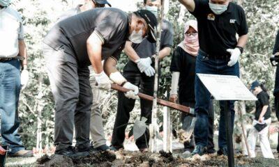 Wali Kota Bersama Trakindo Laksanakan Penanaman di KRB