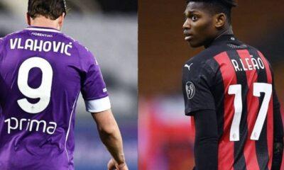 AC Milan Tak Akan Barter Leao dengan Vlahovic dari Fiorentina
