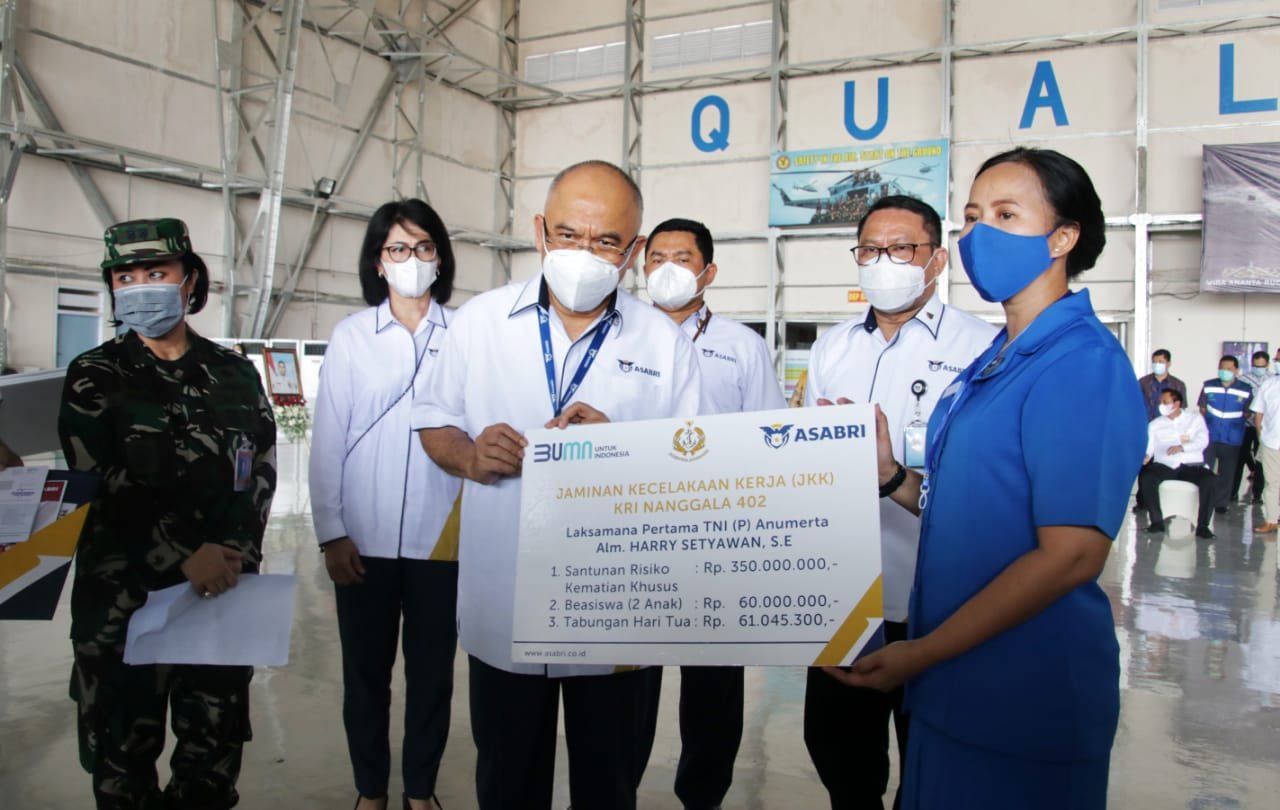 ASABRI Bayarkan Asuransi Rp20,785 Miliar Bagi Ahli Waris KRI Nanggala 402