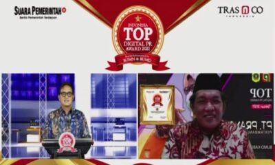 BUMD Bogor PT Prayoga Pertambangan Energi Raih Penghargaan Indonesia Digital Public Relations Award 2021 - Suara Pemerintah