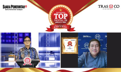 Bangun Citra Positif di Ranah Digital, PT PP Persero Raih Indonesia TOP Digital Public Relations Award 2021