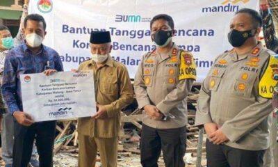 Bank Mandiri Salurkan Bantuan 115 Juta Korban Gempa Malang