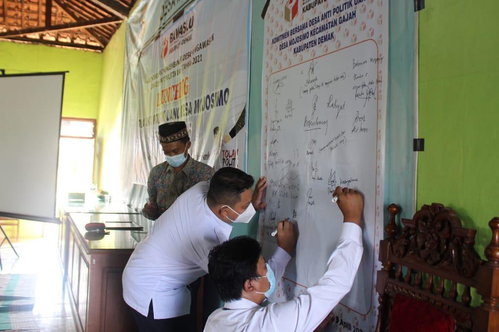 Dua Desa di Kecamatan Gajah Dicanangkan Sebagai Desa Antipolitik Uang