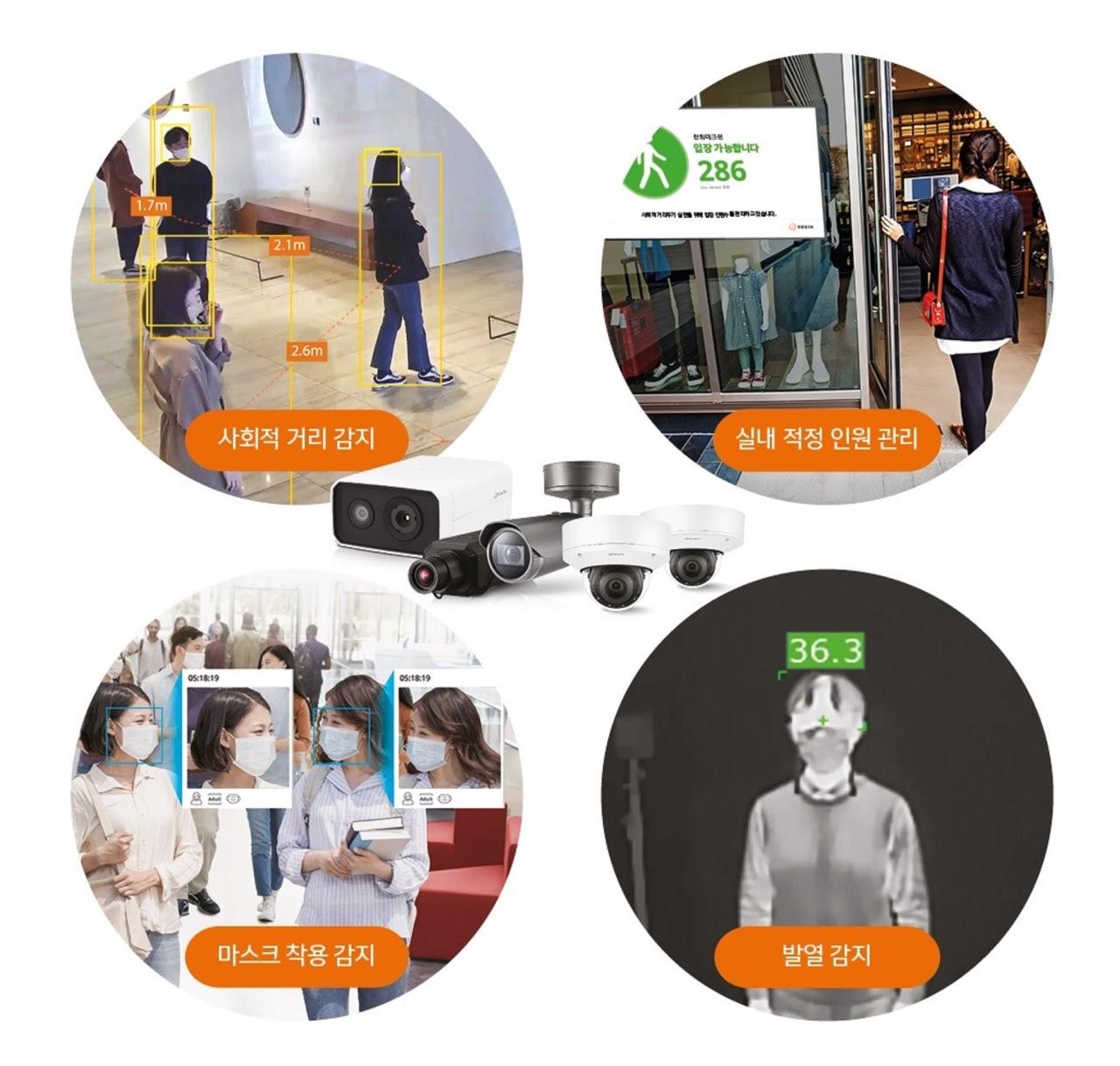 Hanwha Techwin Korsel Perkenalkan CCTV Berbasis AI Pendeteksi Pelanggaran Jarak Sosial