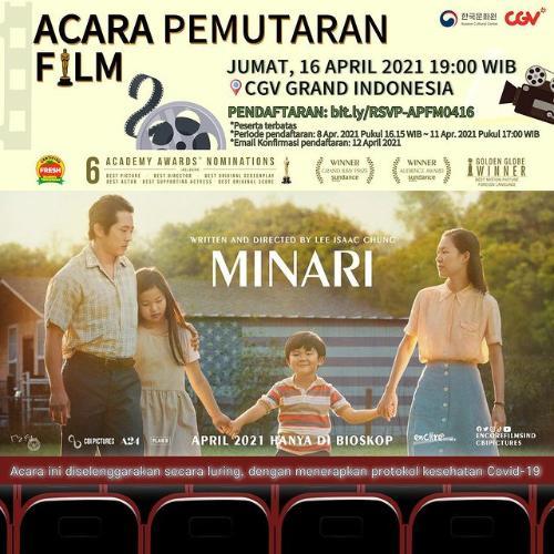 "KCCI Gelar Nobar Film ""Minari"", Begini Cara Ikutan!"