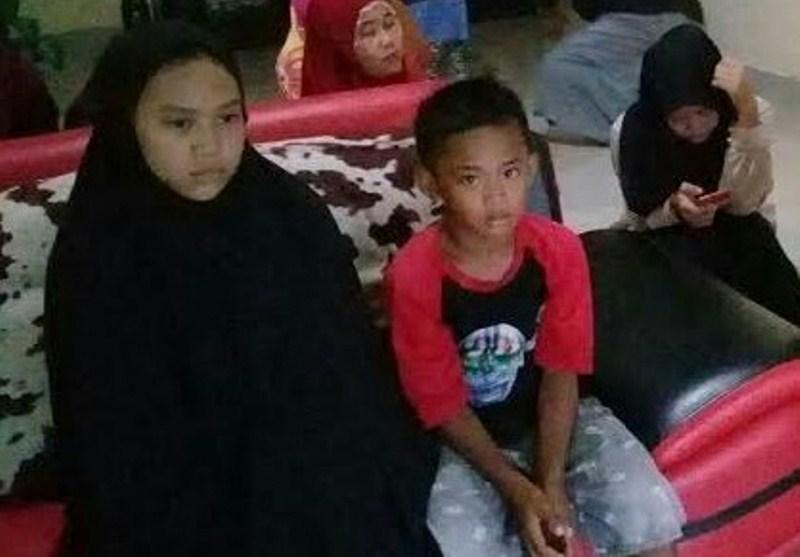 Zahra Mawaddah (13), dan Muh. Fatir (8). Kedua anak Amiruddin (korban kapal tenggelam) di NTT. /Ashari/AKURATNEWS