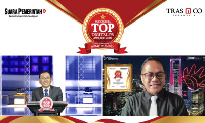 Optimalkan Tranformasi Digital, PT Telkom Raih Indonesia TOP Digital Public Relations Award 2021 - Suara Pemerintah