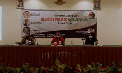 Pemaparan hasil Survey SSC di Surabaya, Senin 12 April 2021.