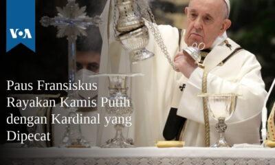 Paus Fransiskus Rayakan Kamis Putih dengan Kardinal yang Dipecat