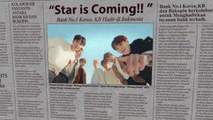 KB Kookmin menggandeng BTS sebagai brand ambassadornya pada Desember 2020 (Sumber:Istimewa)