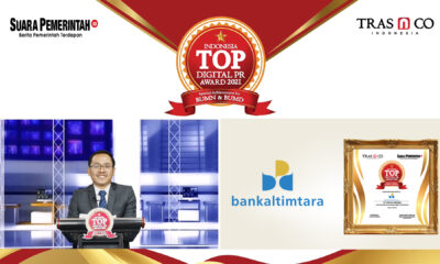 Perkuat Investasi Digital, Bank Kaltimtara Raih Indonesia TOP Digital Public Relations Award 2021