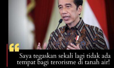 Presiden: Tidak Ada Tempat bagi Terorisme di Tanah Air