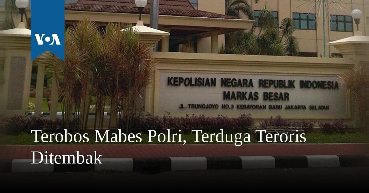 Terobos Mabes Polri, Terduga Teroris Ditembak