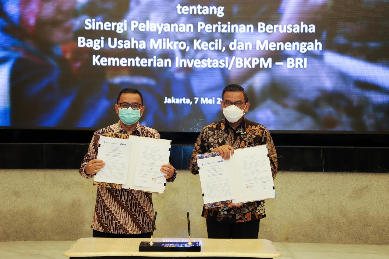 BRI dan Kementerian Investasi Sinergi Permudah Akses Layanan dan Perizinan UMKM