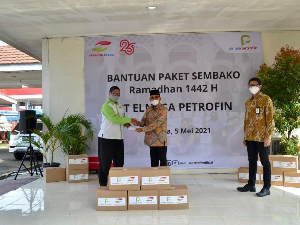 Berbagi Berkah Ramadhan, Elnusa Petrofin Tebar Ribuan Paket Sembako di Seluruh Indonesia