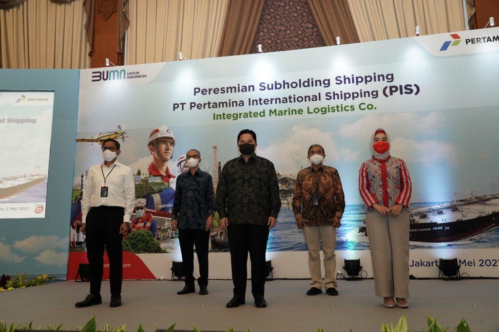 Erick Thohir Resmikan PT Pertamina International Shipping sebagai Subholding Shipping Pertamina