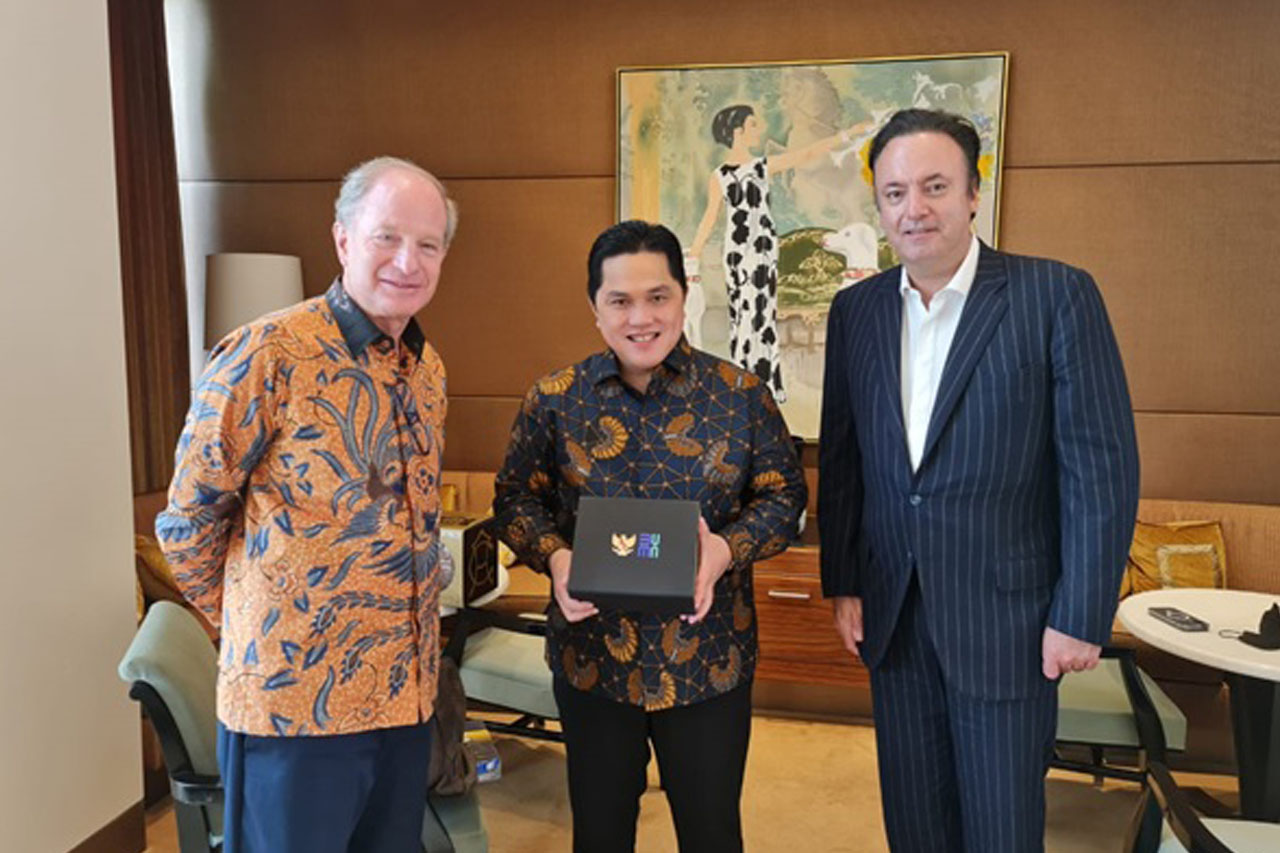 Erick Thohir dan Dufry Bahas Gelaran Produk Unggulan Indonesia di Pasar Bebas Dunia
