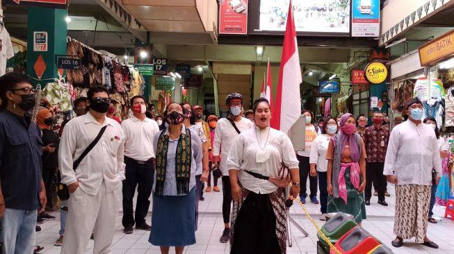 Hari Kebangkitan Nasional, Indonesia Raya Menggema di Pasar Beringharjo