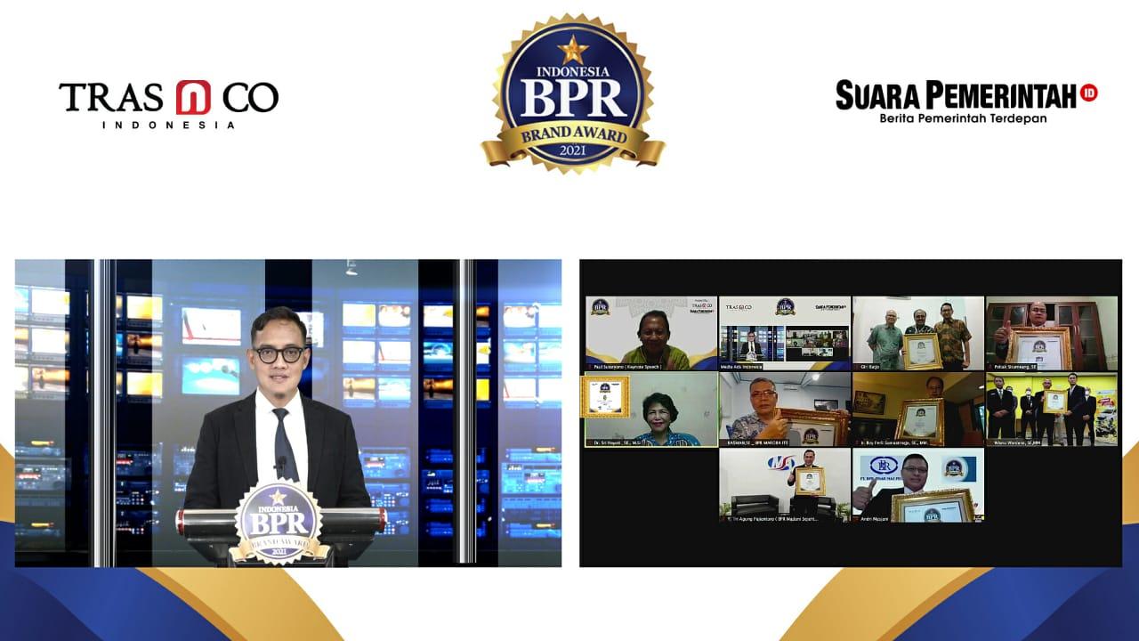 Indonesia BPR Brand Award 2021: Apresiasi Kinerja dan Branding Bank Perkreditan Rakyat di Seluruh Indonesia. - Suara Pemerintah