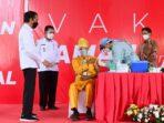 Jokowi Tinjau Vaksinasi di Bintan   Beritaenam.com