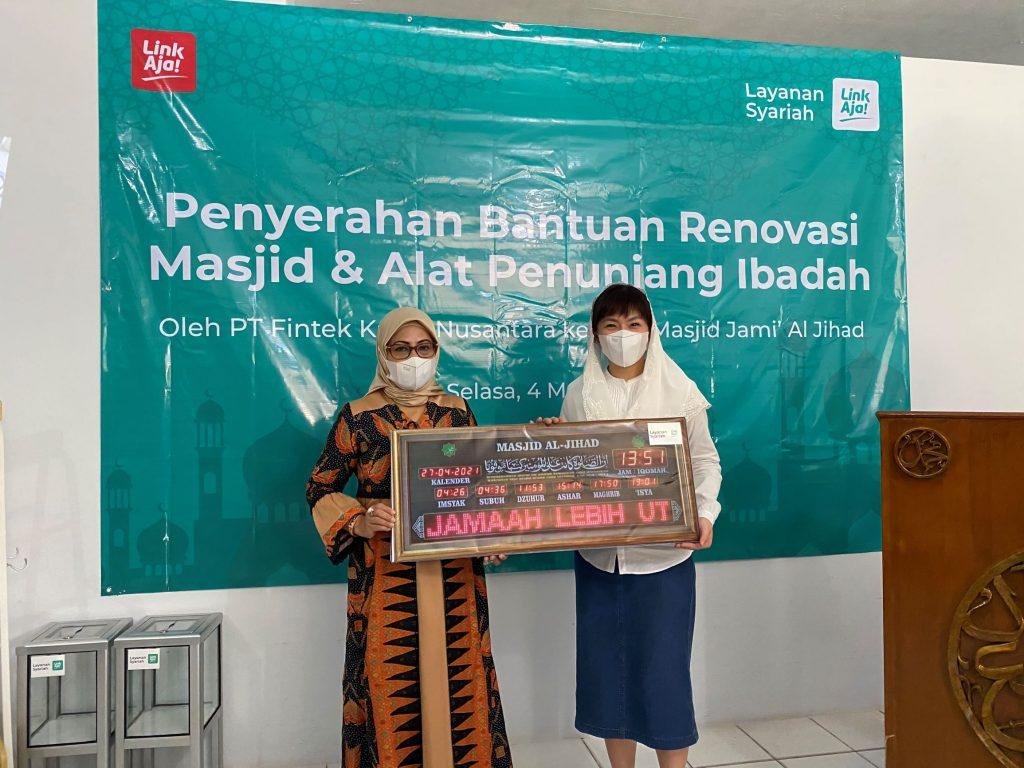 LinkAja Salurkan CSR pada Masjid Jami' Al Jihad