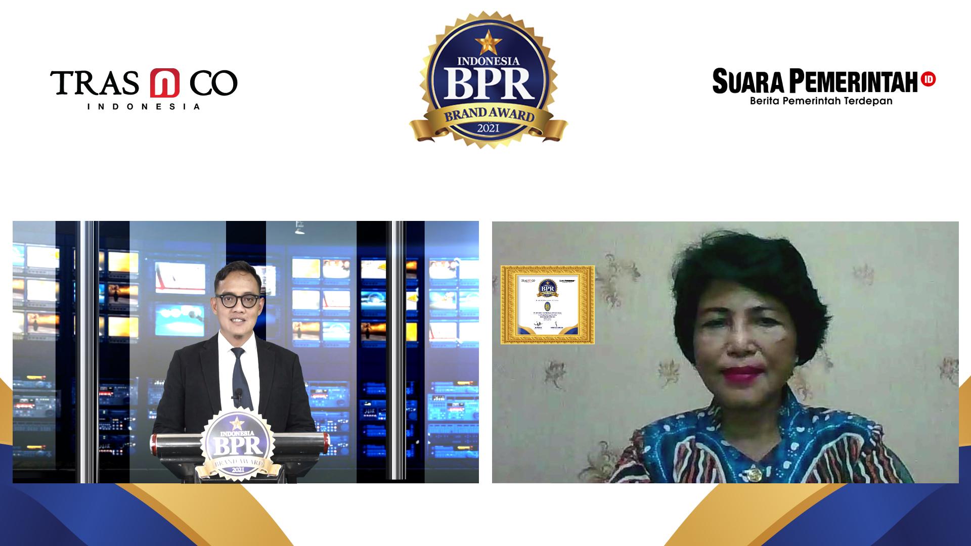 Masuk TOP 250 BPR di Indonesia, BPR BKK Mandiraja Raih Indonesia BPR Brand Award 2021 - Suara Pemerintah
