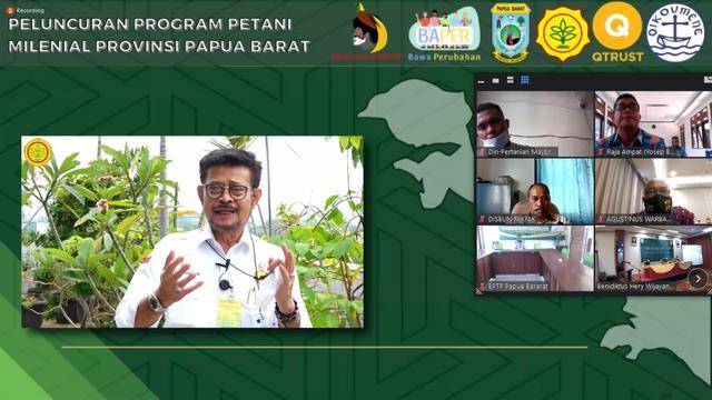 Mentan Luncurkan Program Petani Milenial di Papua