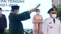 Pasangan Sugianto Sabran-Edy Pratowo Resmi dilantik Jokowi Jadi Gubernur dan Wagub Kalteng