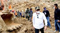 Tinjau Lokasi Longsor di Kawasan PLTA Batangtoru Gubernur Edy Rahmayadi Minta Evakuasi Korban Secara Optimal