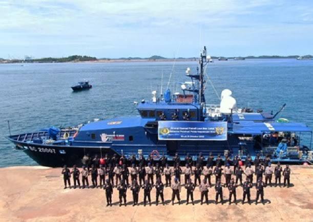 Dirjen Bea Cukai Batam, KPLP dan Polairud Patroli Laut Bersama di Kepri