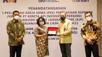 KAI dan Bank Mandiri Sepakati Kerja Sama Dukung Para Pelaku Usaha