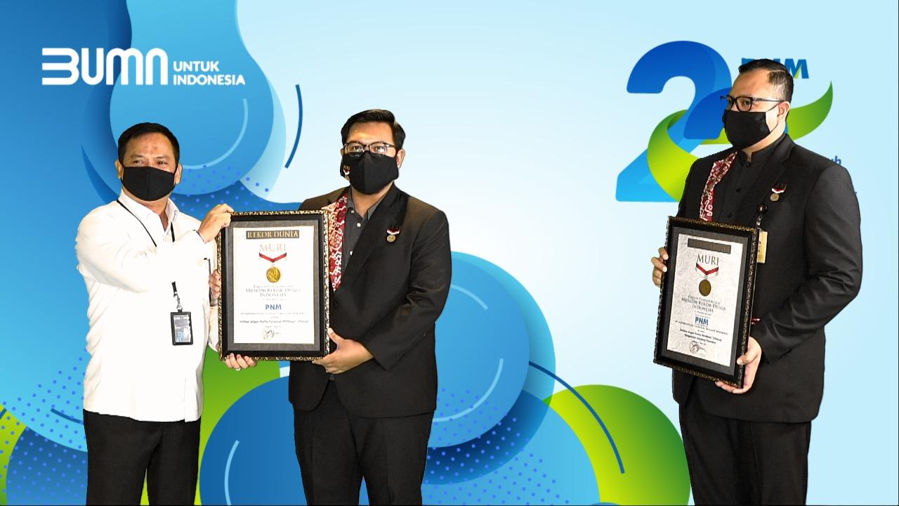 Kado Ultah ke-22, PNM Raih Dua Penghargaan MURI