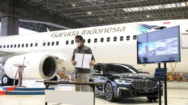 """Layani Penerbangan Premium, Garuda Indonesia-BMW Luncurkan Program """"The Prestige Service"""""""