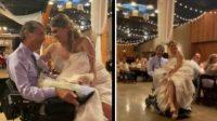Momen Viral Pengantin Wanita Dansa dengan Ayah di Atas Kursi Roda, Haru!