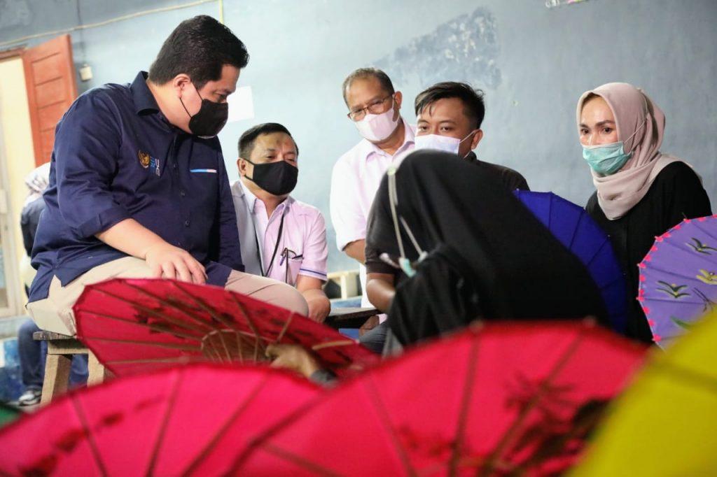 Nasihat Menteri Erick Thohir untuk Nasabah dan AO PNM di Tasikmalaya
