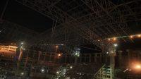 Rangka Atap Terberat dan Terpanjang di Asia Berhasil Dipasang di JIS