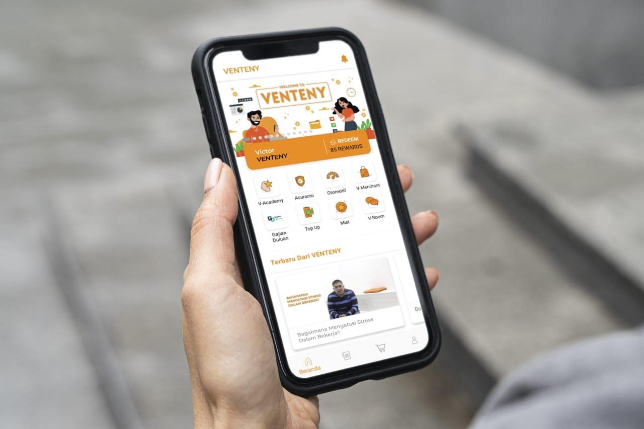 VENTENY Super App, One Stop Solution Bagi Karyawan di Indonesia - Suara Pemerintah